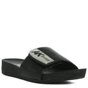 Anne Klein Women's Quen Black Synthetic Sandal